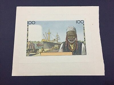 French Africa Uniface PROOF 100 FRANCS UNC Rare Proof