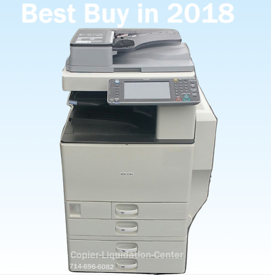 Ricoh MPC3002 MP C3002 color tabloid copier with finisher a print speed 30 ppm v