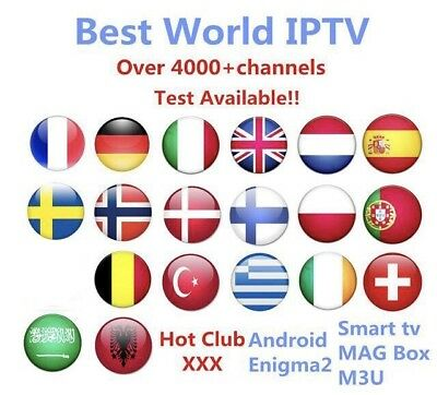 ☑IPTV +4000 Chaînes HD+ VOD M3U,ANDROID,SMART Tv, MAG, Simple List , IOS...