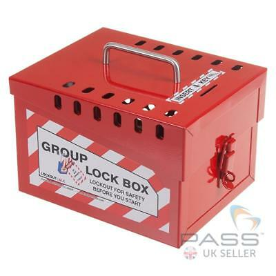 Large Red Portable Group Lockout Box - 12 Locks