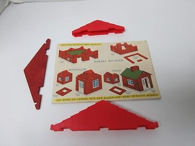 1950s AMERICAN PLASTIC BRICKS ELGO Sets #70, 71, 72 Instructions + Lincoln Logs