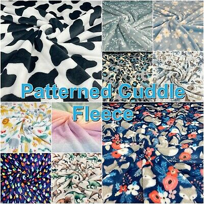 Super Soft Cuddle Fleece Printed Children's Fun Blanket Craft Fabric Material