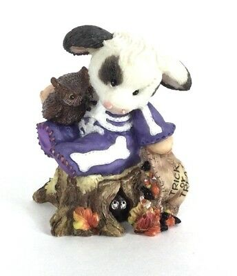 Mary's Moo Moos: Who-o-o Are Moo-o-o? 185744 Skeleton Cow Figure 1996 Halloween