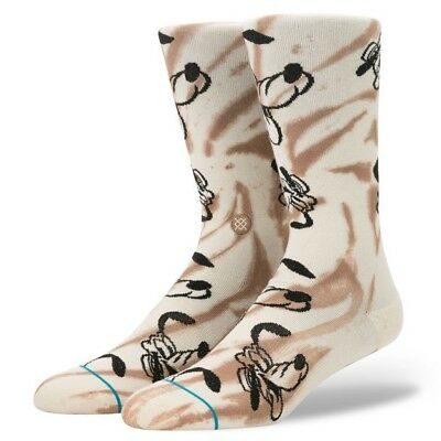Disney Stance Socks Pluto Size Large 9-12 NWT Tan Color