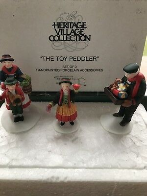 HERITAGE VILLAGE THE TOY PEDDLER Dept 56 RETIRED