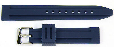 DARK BLUE New Silicone Rubber Divers Sports Watch Strap Band 18mm 20mm 22mm