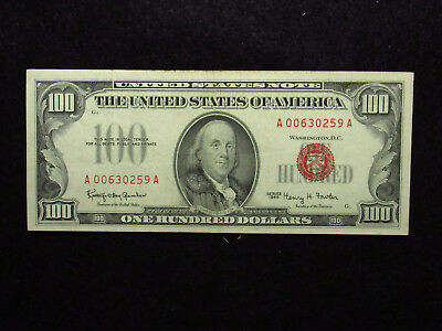 1966 $100 United States Note RED SEAL (259)