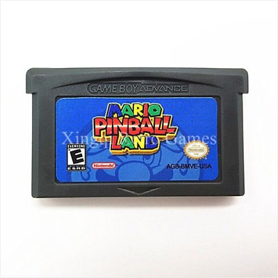 Nintendo GBA Video Game Console Card Cartridge Mario Pinball Land