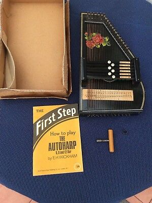 Vintage musical item called a autoharp zither made in Germany