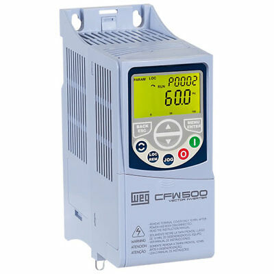 Weg Variable Frequency Drive Cfw500A07P0S2Nbn1 For 2-Hp Motor 200-240Vac 1Phase*