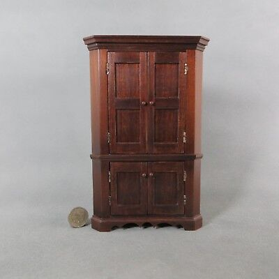 Miniature Dollhouse NICE Mid 1800's Corner Cupboard   OOAK Artisan Made