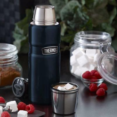 Thermos Stainless King 16 Oz Compact Bottle for Hot or Cold Beverage Midnight Bl