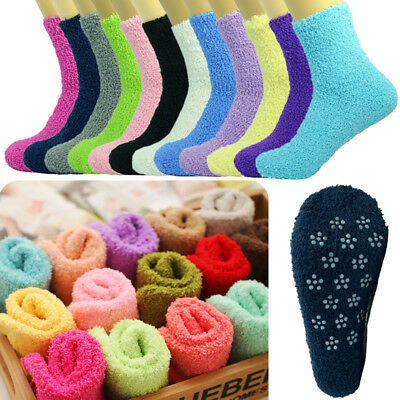 Wholesale Lot For Womens Soft Cozy Fuzzy Socks Non-Skid Solid Home Warm Slipper