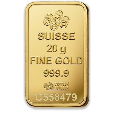 PAMP Suisse Fortuna 20g Gold Bar - PAMP - 99.99 Fine Bullion