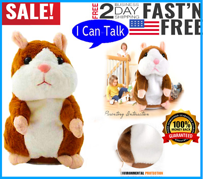 Best gift Cheeky Hamster Repeats What You Say Electronic Pet Talking Plush Toy