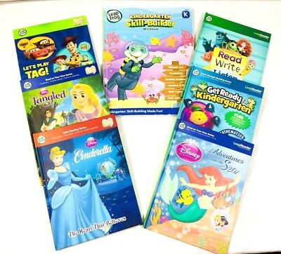 LEAPFROG READER/TAG READING SYSTEM LOT of 5 ACTIVITY BOOKS & WORKBOOK