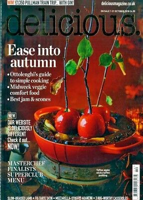 Delicious Magazine Issue October 2018 With Free Best Bakes Mag ~ New ~