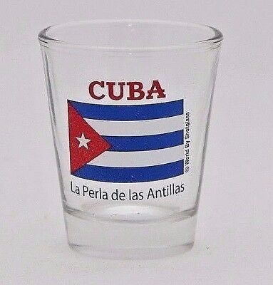 Cuba Flag Glass Shotglass
