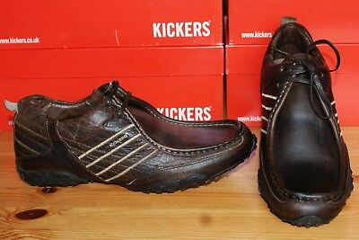 Kickers Brown Leather Lace Shoe