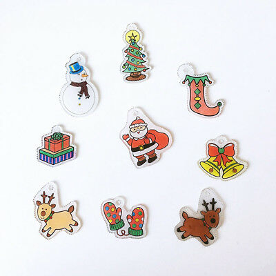6Pc Christmas Series Easy DIY Printer Inkjet Shrink Plastic Shrinkable Paper