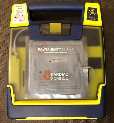 Cardiac Science Powerheart G3 AED 2021 Pads Good Battery 3 Year Warranty