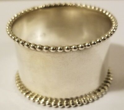 Sterling Silver Beaded Napkin Ring, no mono