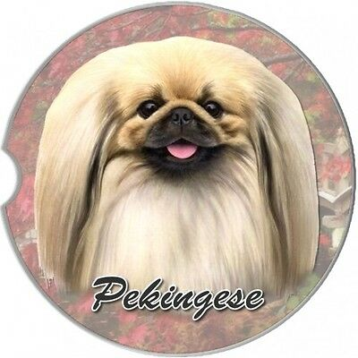 Pekingese Sandstone Absorbent Dog Breed Car Coaster