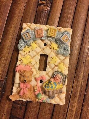 Baby Light Switch Plate Raised Objects Ceramic Resin Single Switch