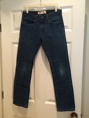 Levis 511 Dark Wash Blue Skinny Jeans Boys 16 Reg 28x28,Black Label