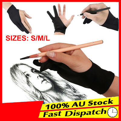 1pc Graphic Sketch Drawing Writing Two Finger Tablet Artist Professional Glove