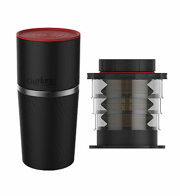 Cafflano Klassic Black Travel All in One Coffee Maker and Black Coffee Press