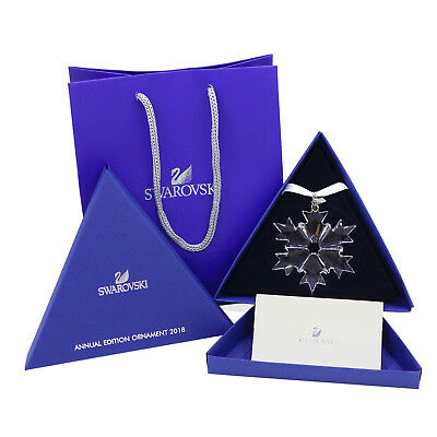2018 Xmas Large Annual Edition Snowflake Ornament Swarovski Crystal 5301575