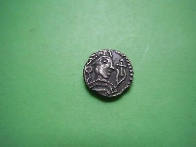 England Early Anglo-Saxon Wolf-Headed Serpent Silver Sceatta 600-775 Ad