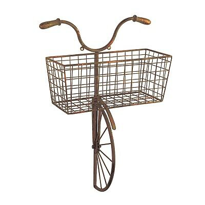 Iron Bicycle Wall Decor - Basket for Storage Magazine Rack Flower Pot Holder