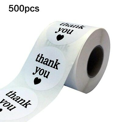 500Pcs Thank You Peel Off Stickers Adhesive Seal Party Gift Label Envelope Seal