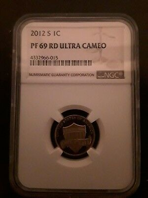 2012 S 1C NGC PF 69 RD Lincoln Shield Cent Proof Ultra Cameo