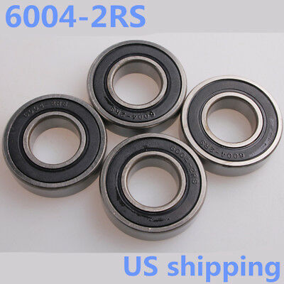 4PCS/8PCS 6004-2RS Rubber Sealed Ball Bearing  20x42x12mm Lubricated 6004RS