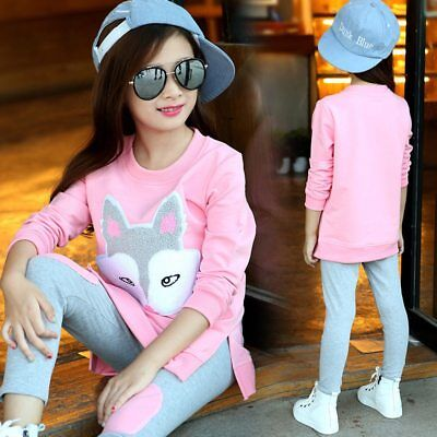 Children Clothing 3-12 Years Girls Sets Long Sleeve Tracksuit Girls Clothes Sets