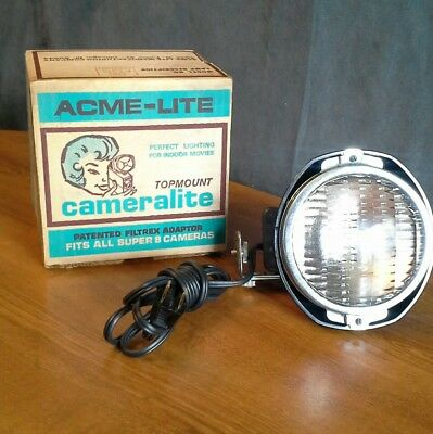 Topmount Cameralite Super 8 ACME Lite Vintage Indoor Movie Light Working
