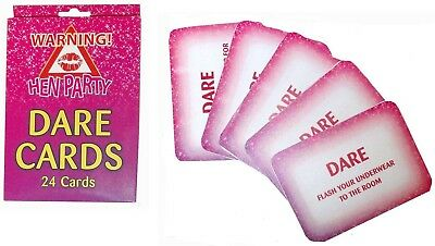 Pack of 24 Dare Cards Hen Party, Girls Night Out accessories