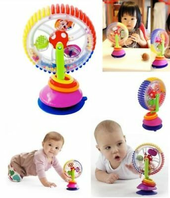 Rainbow Ferris Wheel Rattle Clanking Suction High Chair Educational Toy UK