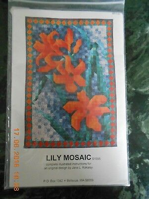 """Quiltmuster """"Lily Mosaic"""" – Taglilie"""