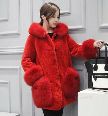Womens Winter Fashion Faux Fur Coats Hood Jackets Warm Trench Casual Parka Hot