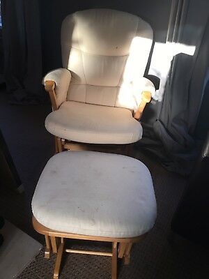 Dutalier Nursing chair, Rocking Chair, Glider with matching footstool John lewis