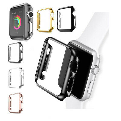 Shockproof PC Plating Case Protector Bumper Cover Fr Apple Watch 4 3 2 1 38-44mm