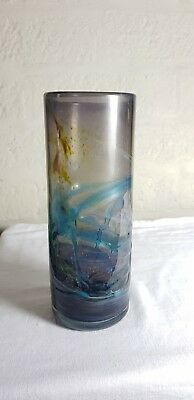 Early Mdina glass trailed vase with pontil