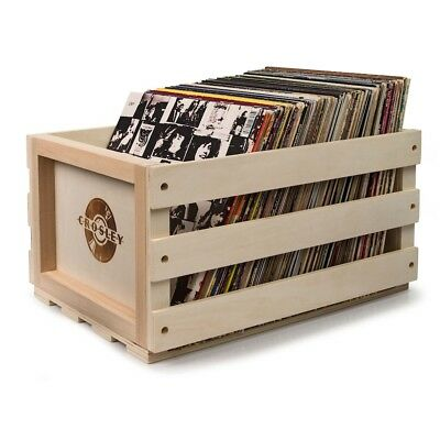 New Crosley Record Storage Crate Holds 75 Vinyl Lp Records
