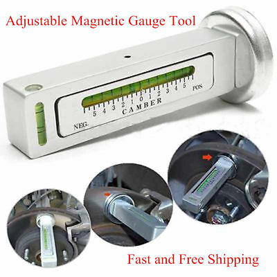 Adjustable Magnetic Gauge Tool Camber Castor Strut Wheel Alignment Truck Car EK