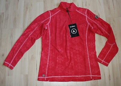 KILLTEC Skipullover Fleece Pullover Shirt Skirolli rot Gr.42 - NEU