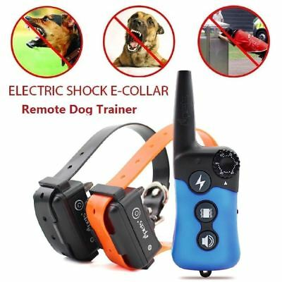 iPets PET619 330 yard Dog Shock Training Collar Remote Rechargeable For 1/2 Dogs